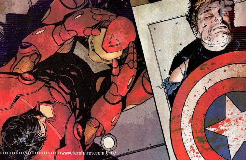 Meus amigos estão caindo - Homem de Ferro - Capitão América - Blog Farofeiros