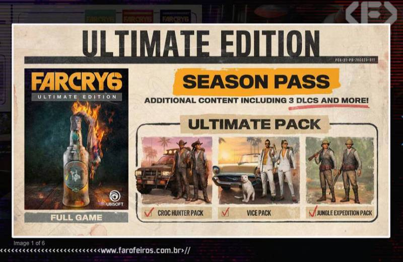 Far Cry 6 - Ultimate Edition - Ultimate Pack - Ubisoft Forward 2020 - Blog Farofeiros