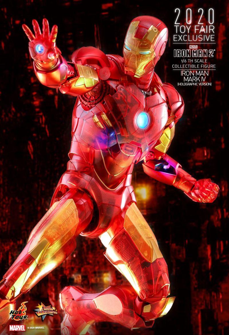 Homem de Ferro holográfico da Hot Toys - Blog Farofeiros