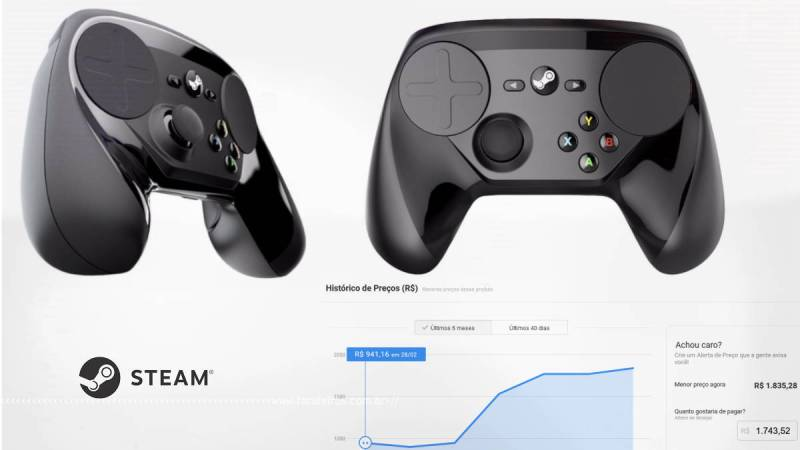 Tá caro ser gamer - Steam Controller - Gráfico Buscapé - Blog Farofeiros