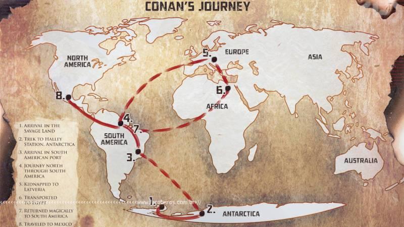 Conan no Brasil - Mapa - Blog Farofeiros