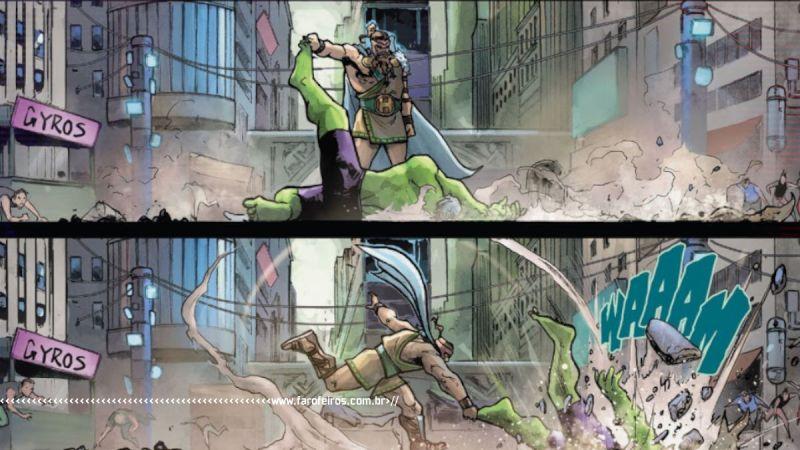 Hércules Esmaga pequeno Hulk - Maestro #4 - Marvel Comics - Outra Semana nos Quadrinhos #28 - Blog Farofeiros