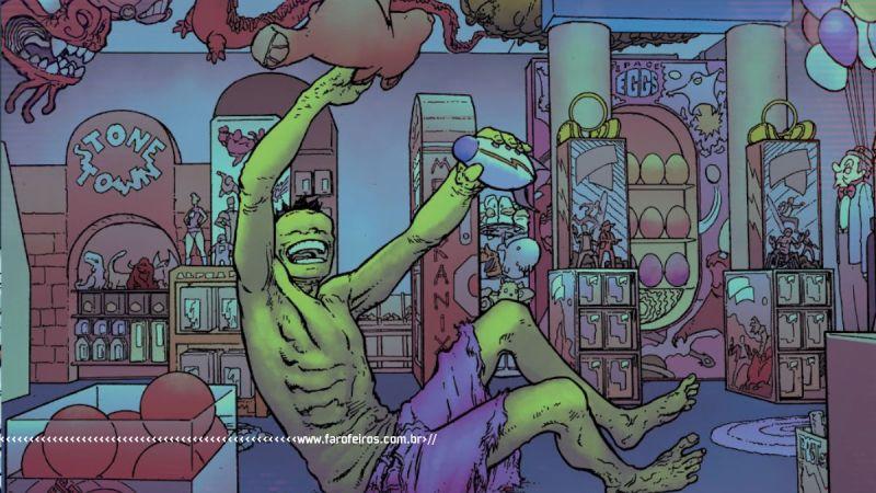 Hulk magrelo brincando - King In Black - Immortal Hulk - Marvel Comics - Outra Semana nos Quadrinhos #28 - Blog Farofeiros