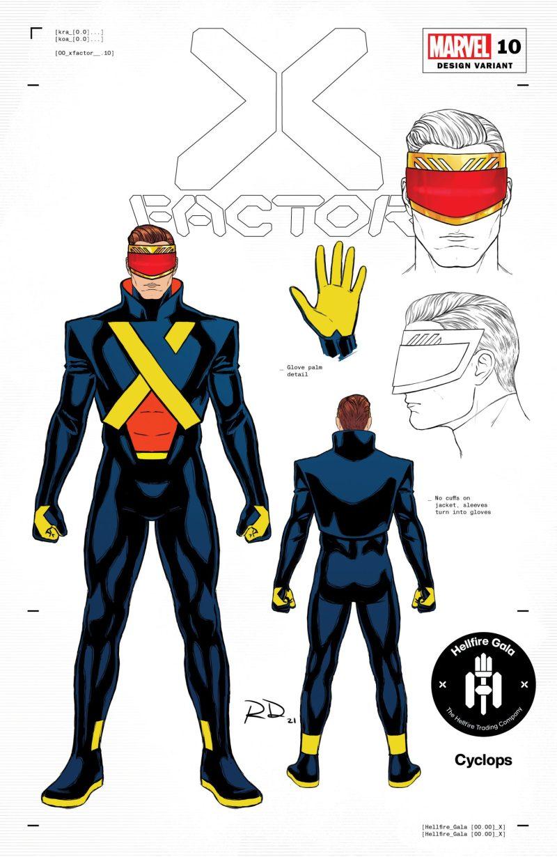 Ciclope - 1 - Russell Dauterman - Hellfire Gala - A noite de Gala do Clube do Inferno em X-Men - Blog Farofeiros