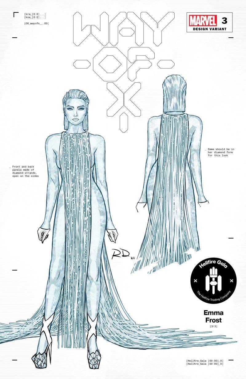 Rainha Branca - 3 - Russell Dauterman - Hellfire Gala - A noite de Gala do Clube do Inferno em X-Men - Blog Farofeiros