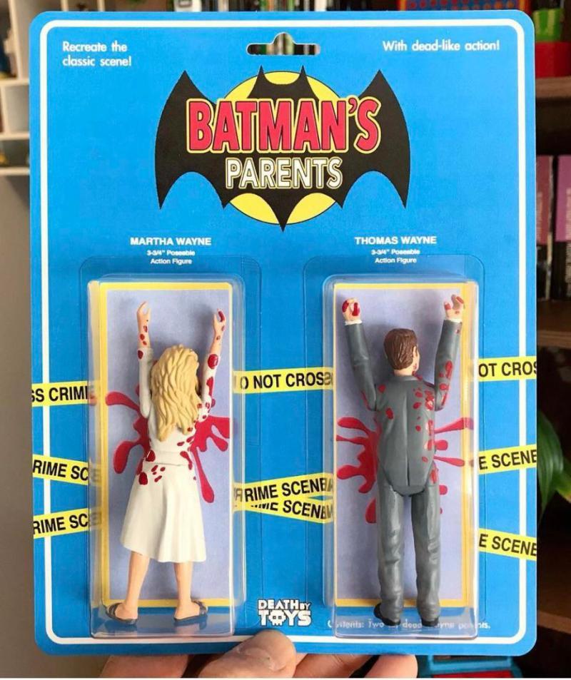 Bonecos dos pais do Batman - Colecionismo - Blog Farofeiros