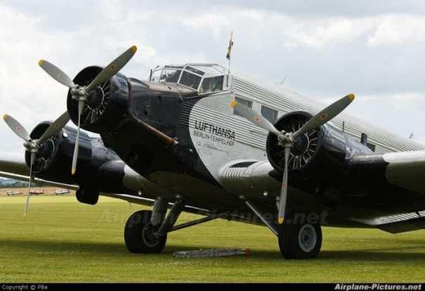 Junkers JU52, um dos primeiros aviões da Lufthansa (Airplane-Pictures.net)