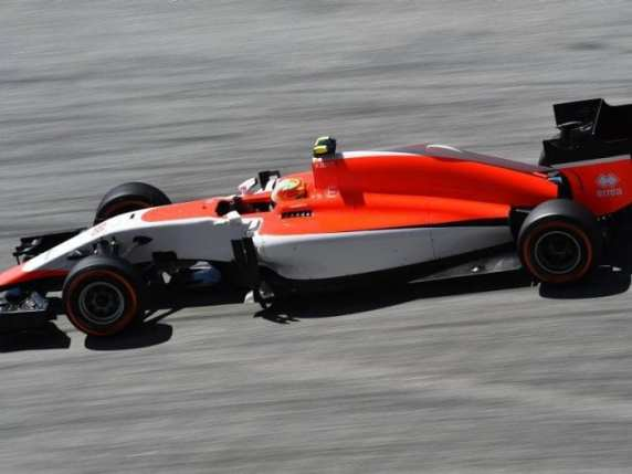Manor (enfim) na pista, com Merhi, que terminou a prova (El Periodico del Mediterrâneo)