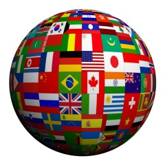 Globe Covered in Flags iStock_000012215038_Small