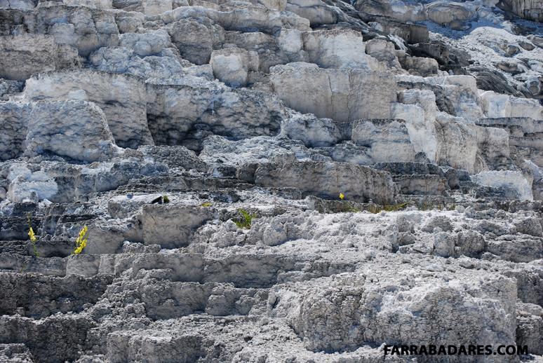 Mammoth Hot Spring - terraço de travertino
