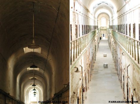 Eastern State Penitentiary - corredor 7 que tinha dois andares
