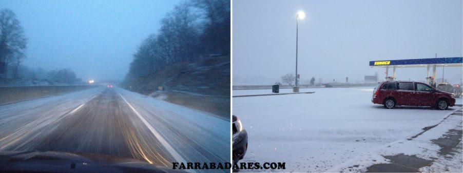 Neve na estrada I-76