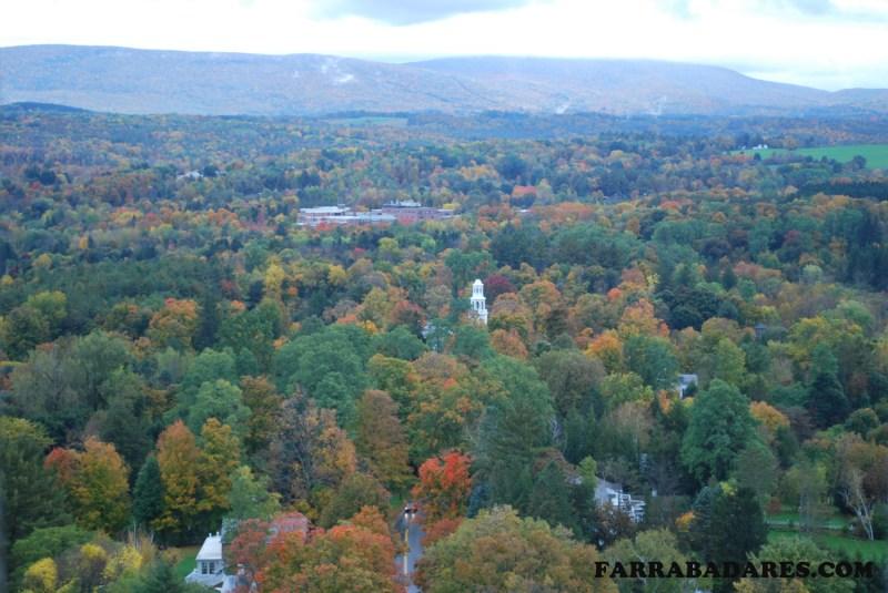 Vistas do alto do Monumento da Batalha de Bennington - Vermont