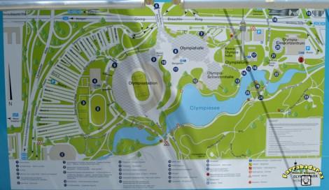 Olympiapark Mapa - Munich