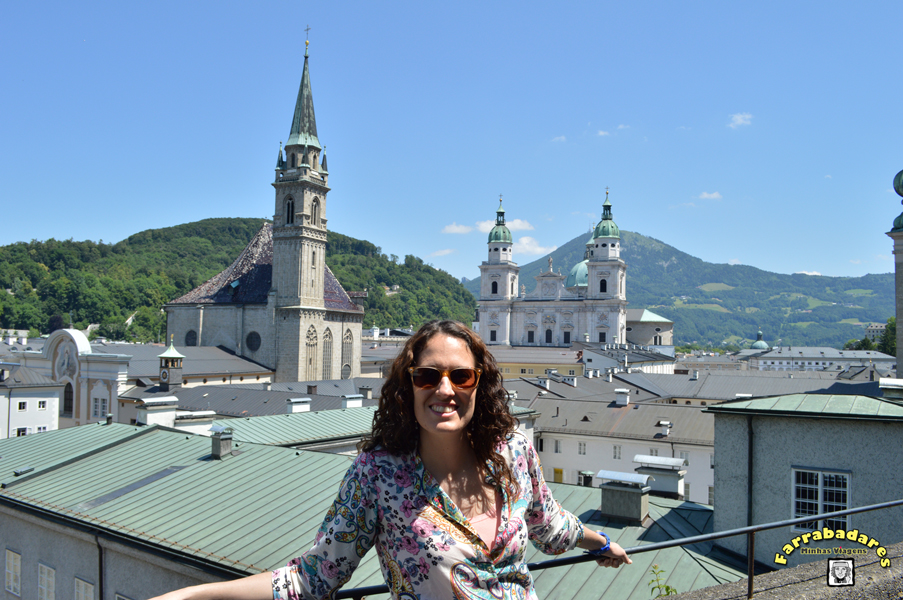 Salzburgo - na trilha que leva ao castelo