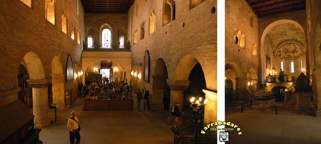 Castelo de Praga - interior da Basílica de São Jorge