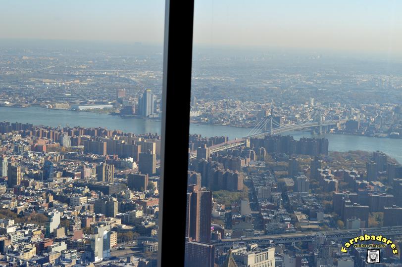 Nova York - One World Oservatory - quando a tela sobe essa é a vista!