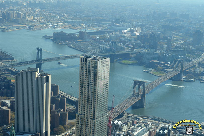 Nova York - One World Oservatory - Manhattan Bridge e Brooklyn Brideg