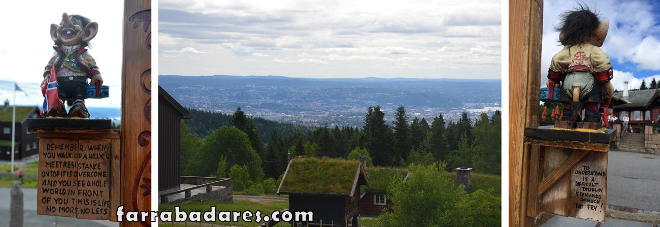 Oslo - vista do alto da colina Homenkollen
