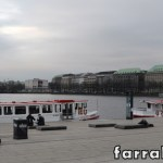 Lago Binnenalster em Hamburgo de onde saem passeios de barco