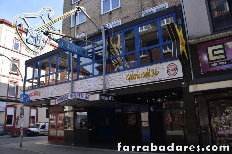 O Bar Kaiserkeller ficava aqui, no número 36 da Rua Grosse Freihent.