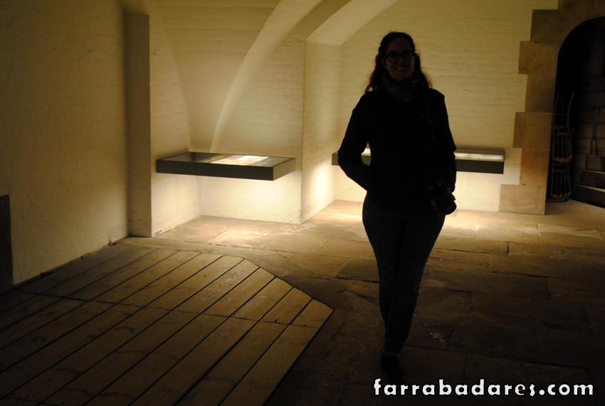 Palácio Christiansborg , eu nas ruínas