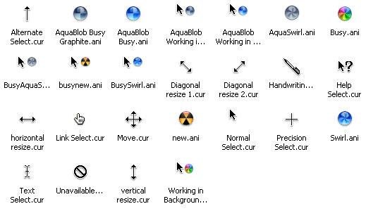 Cursors del Mac OS X per Windows