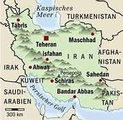 Map of Current Iran