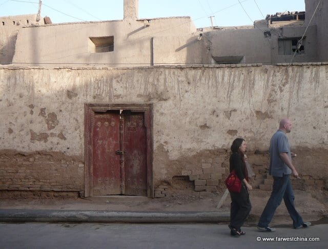 A mud wall in Kashgar's Old City