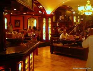 Inside a Uyghur restaurant in Kashgar