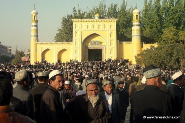 Kashgar's beautiful Id Kah mosque