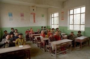 A Uyghur school full of children