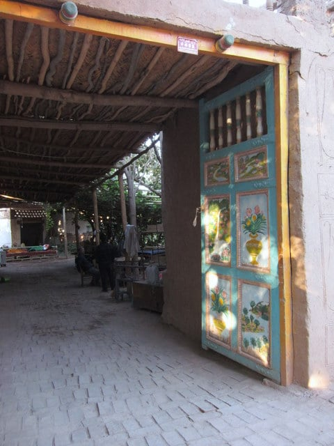 The entrance to a Uyghur home in Xinjiang, China