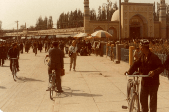 The Id Kah Mosque in Kashgar from 1983