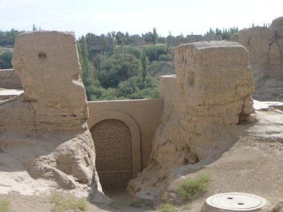 The eastern entrance of Turpan's Ancient City of Jiaohe (Xinjiang)