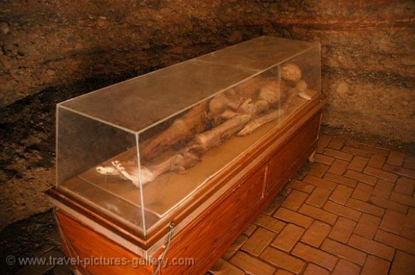 One of the mummies found in Turpan's Astana Tombs