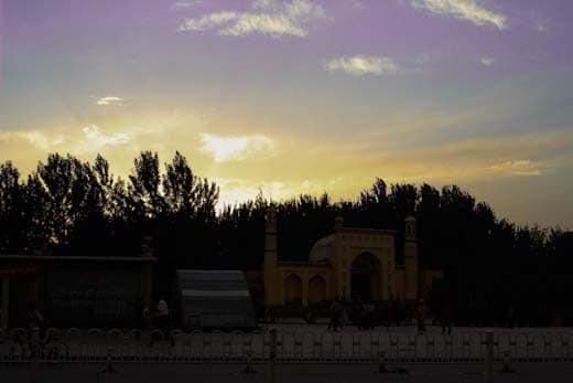 The Id Kah mosque in Kashgar Xinjiang at beautiful dusk
