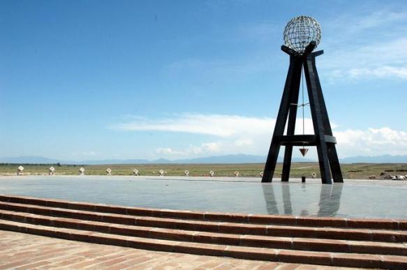 The Center of Asia monument near Urumqi, Xinjiang