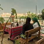Outdoor Terrace at the Kashgar Pamir Youth Hostel in Xinjiang