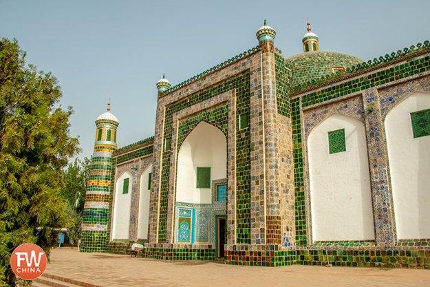Front of the Apak Khoja Mausoleum in Kashgar