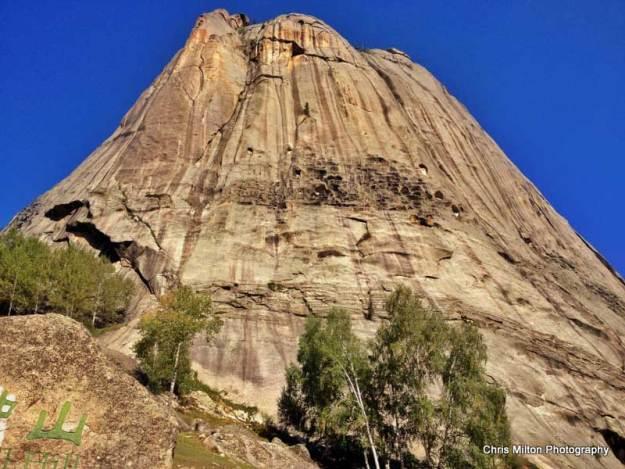 Beautiful granite mountain in Xinjiangs Keketuohai Park
