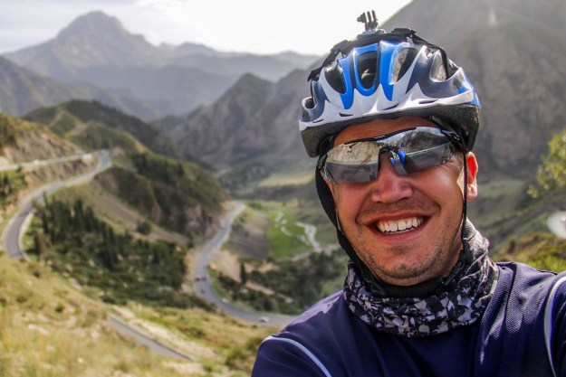 Josh from FarWestChina cycling in Xinjiang
