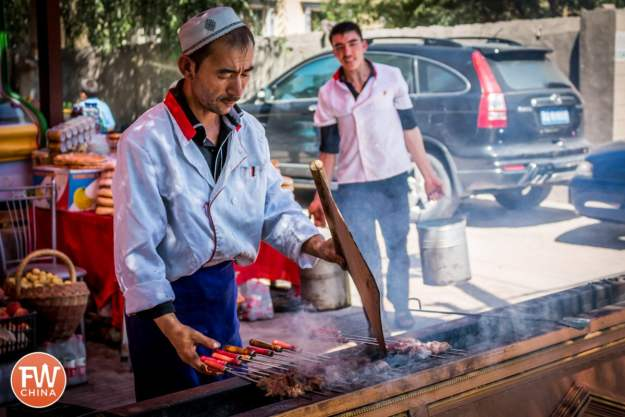 A kebab seller in the small village of Opal