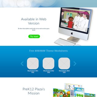 Single page website for Video Plaza app