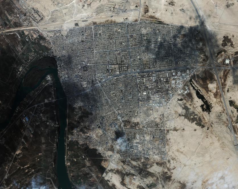 satelitski posnetek Fallujah Irak (1 meter resolucija)