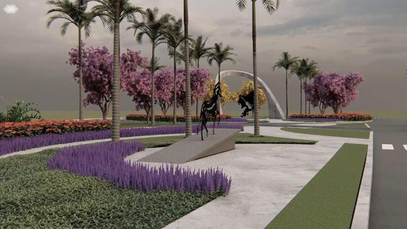 Simulação em 3D do projeto