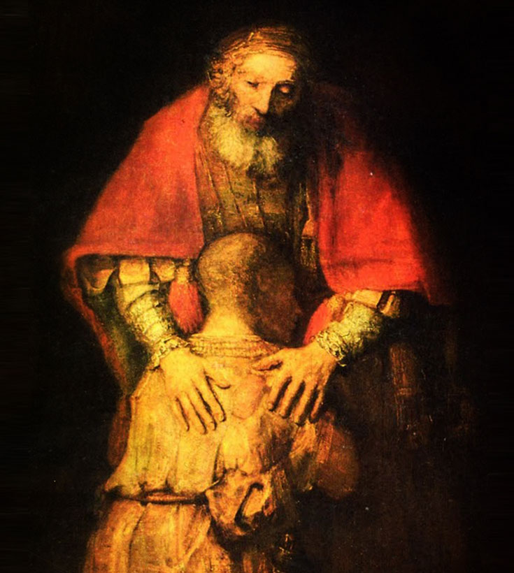 Image results for rembrandt painting the prodigal son