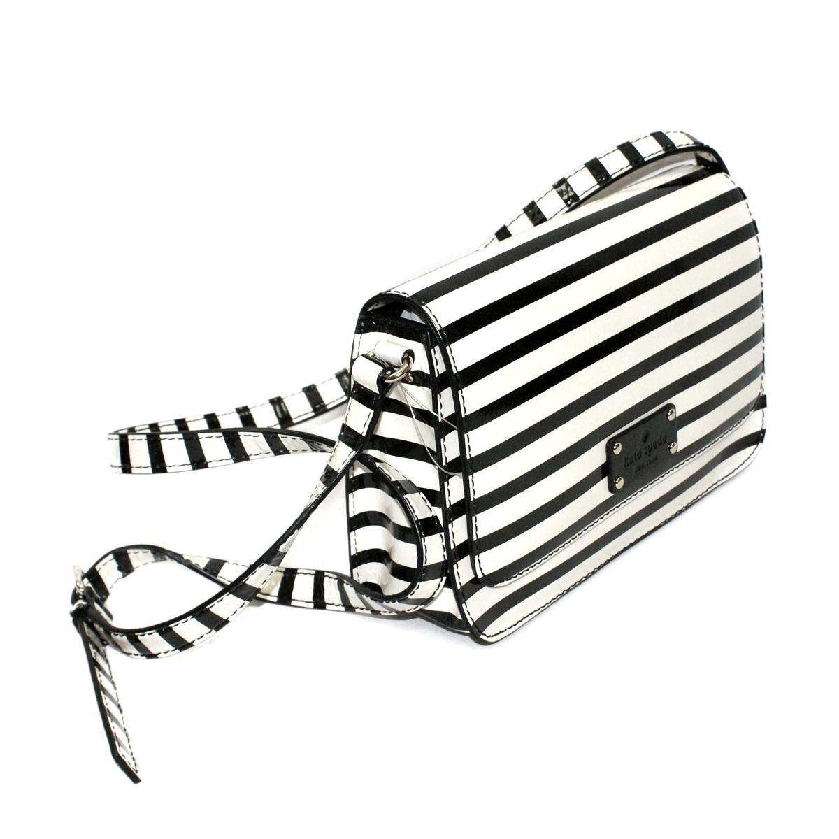 Kate Spade Fynn Wellesley Patent Stripe Swing Crossbody