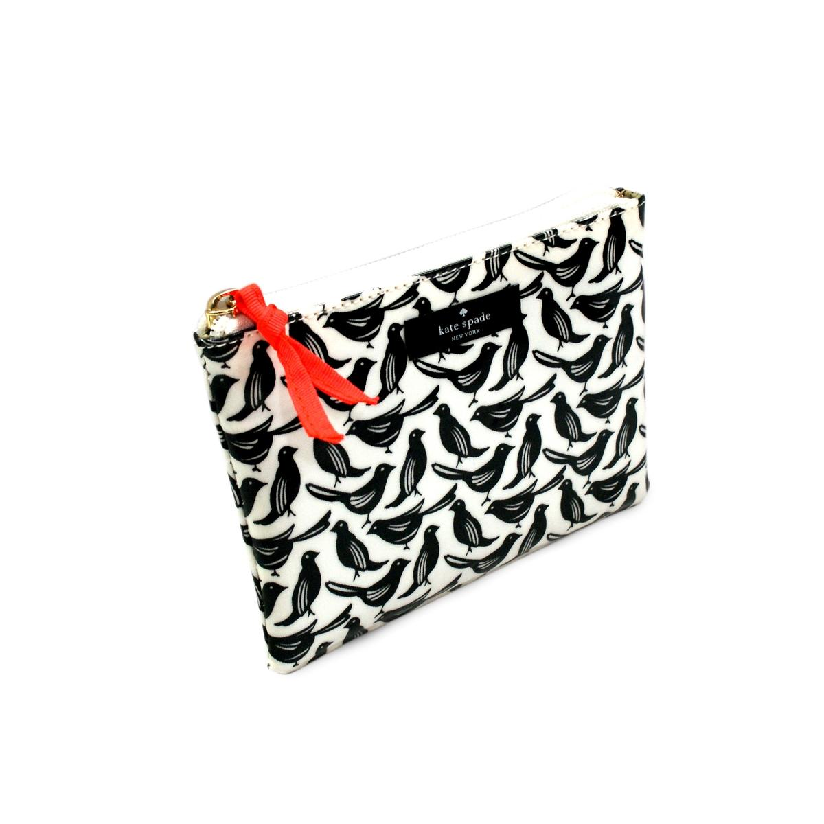 Kate Spade Daycation Mini Flat Pouch Blackbirds Cosmetic