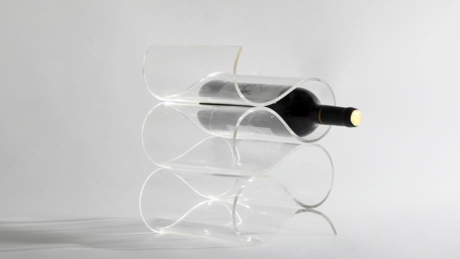 design clear art wine rack home decor